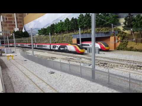 Hornby Class 390 Pendolino 9 Car Test Run