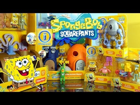 toys - Spongebob Squarepants Imaginext Playset SUPER UNBOXING!! 2 Playsets and 3 Character sets included. For the bloopers behind the scenes look for this video che...