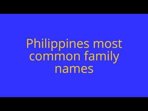 Top 10 Philippines' Most Common Family Names