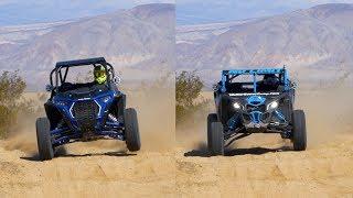 8. Polaris RZR XP Turbo S vs. Can-Am Maverick X3 X RC - Desert Action