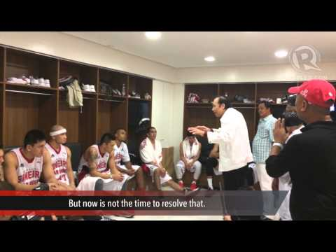 Jawo Talks To Ginebra At Halftime Of PBA PH Cup Semis Game 6