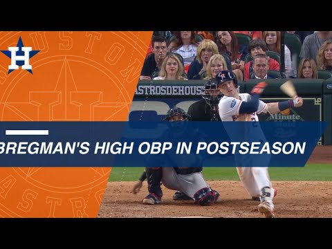 Video: Alex Bregman's high OBP in the postseason