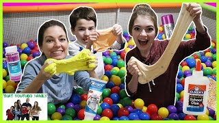 Video Ball Pit SLIME Challenge! / That YouTub3 Family MP3, 3GP, MP4, WEBM, AVI, FLV Maret 2018
