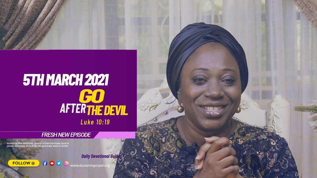 Seeds of Destiny 5th March 2021 Summary by Dr Becky Paul-Enenche (Video)