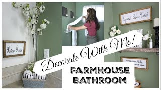 DECORATE WITH ME | Farmhouse Bathroom Makeover | Momma From Scratch
