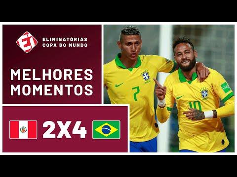 Show de Neymar! Brasil vence o Peru nas Eliminatórias da Copa - MELHORES MOMENTOS