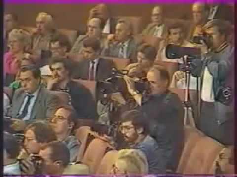 Первый день ГКЧП. Знаменитая пресс-конференция Г.Янаева.  Последние месяцы жизни СССР, 1991 (видео)