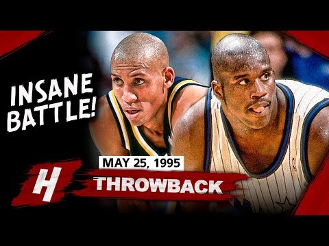 Young Shaquille O'Neal vs Reggie Miller INSANE Game 2 Duel Highlights (1995 ECF) - EPIC BATTLE!