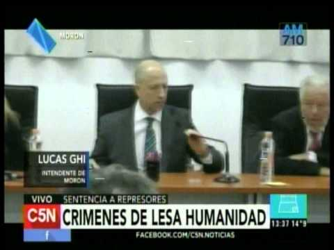C5N – MAS NOTICIAS: CRIMENES DE LESA HUMANIDAD – ESPINOZA EN LA UNIVERSIDAD DE LA MATANZA
