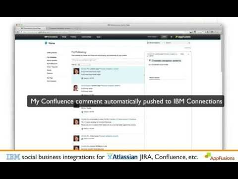 IBM Connections and Sametime integrations with Atlassian JIRA and Confluence