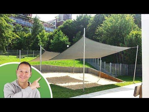 Dreieck-Sonnensegel in wasserdurchlässig NET - 4x4x4m in Kirschrot (7903) | Lager