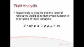 Fluids - Lecture 4.2 - Dimensional Analysis