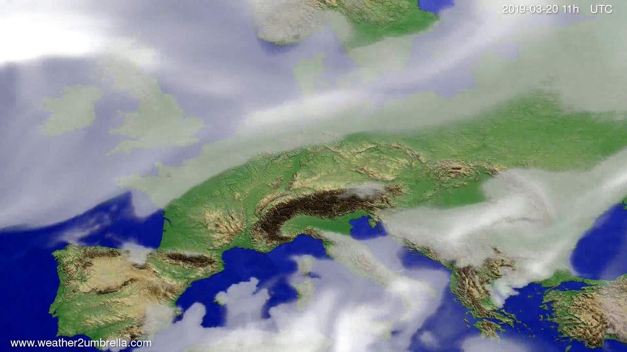 #Weather_Forecast// Cloud forecast Europe 2019-03-19