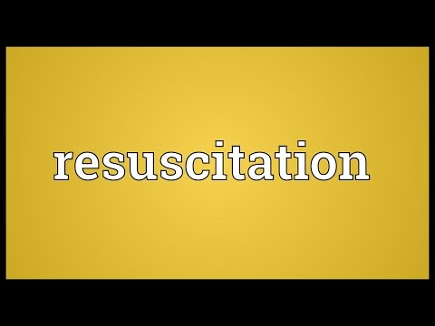 Resuscitation Meaning