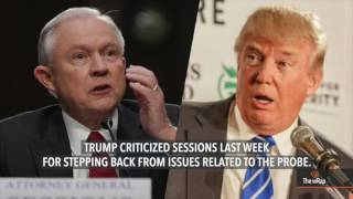 US President Donald Trump's war of words with his attorney general and one-time ally Jeff Sessions escalates Monday, raising speculation the president may be preparing the ground to replace him. FULL STORY: http://s.rplr.co/gc6oz2d
