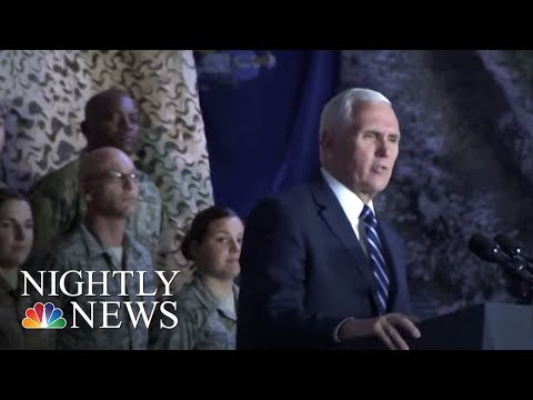 VP Pence talks shutdown during Middle East trip | NBC Nightly News