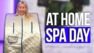 Portable SAUNA?! At Home Spa Day Ideas! (Beauty Break)