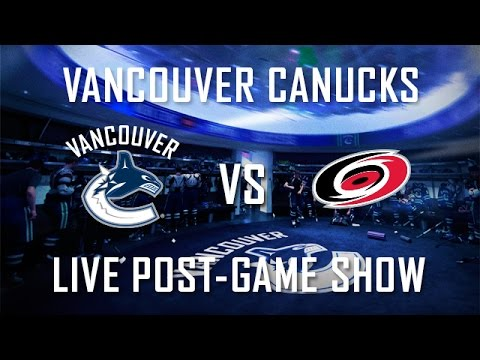 Canucks - For exclusive live coverage of the Canucks/Hurricanes game check out the Live Post-Game Show and hear from Canucks players and Head Coach Willie Desjardins. If you want to keep up to date...