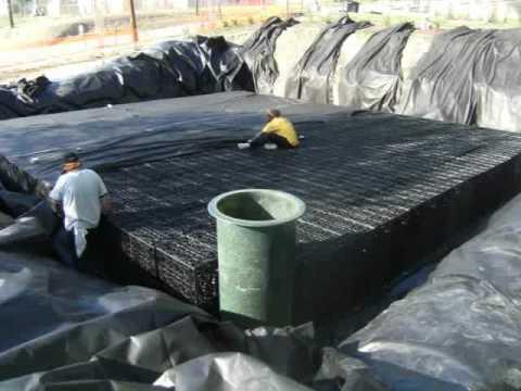 30,000 gallon modular, underground rainwater harvesting system