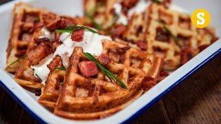 Homemade Potato Waffle Recipe by SORTEDfood