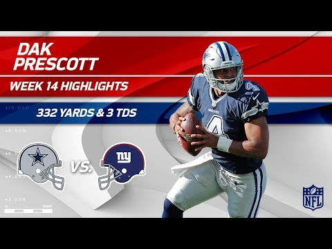 Video: Dak Prescott Puts Up 3 TDs & 332 Yards vs. NY! | Cowboys vs. Giants | Wk 14 Player Highlights