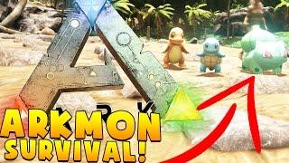 CATCHING A STARTER POKEMON - ARK SURVIVAL EVOLVED POKEMON MOD (ARKMON) #4