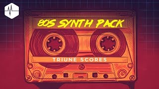 Hear examples of all the tracks here: http://bit.ly/80ssynthpack14 royalty-free 80's styled tracks inspired by Stranger Things and all things 80's! Each tracks comes with all stems broken out and matching hits/risers, allowing you to customize each track to fit your scene perfectly. All instrument layers are broken out from each track for maximum customization:- 100% Royalty-free- Made with authentic 1980's synthesizers- All layers broken out for true customization- Includes hits and risers for more options in your edit