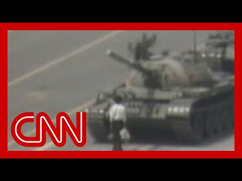 Square - A CNN crew covering the June 5, 1989, protests in Beijing recorded a man stopping a Chinese tank in Tiananmen Square. For more CNN videos, visit our site at ...