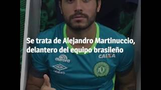 El jugador de Chapecoense que se salvó de morir por estar lesionado