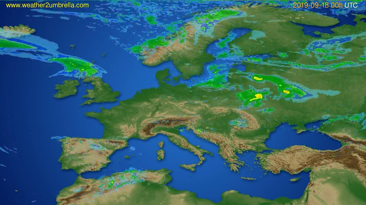 Radar forecast Europe // modelrun: 12h UTC 2019-09-17
