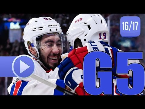 New York Rangers vs Montreal Canadiens. 2017 NHL Playoffs. Round 1. Game 5. April 20th, 2017. (HD)
