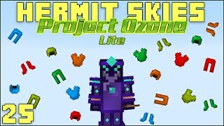 Hermit Skies 25 Armour Upgrading! (Project Ozone Lite Skyblock Modded Minecraft)