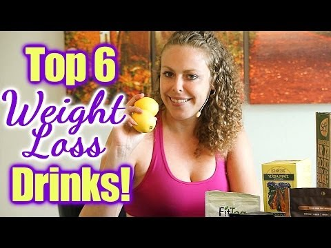 Top 6 Weight Loss Drinks! Easy, Healthy Ways to Lose Weight! Diet Tips, Green Tea, Smoothies, Juice
