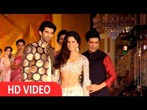 Katrina & Aditya Roy Kapoor On Ramp For Manish Malhotra