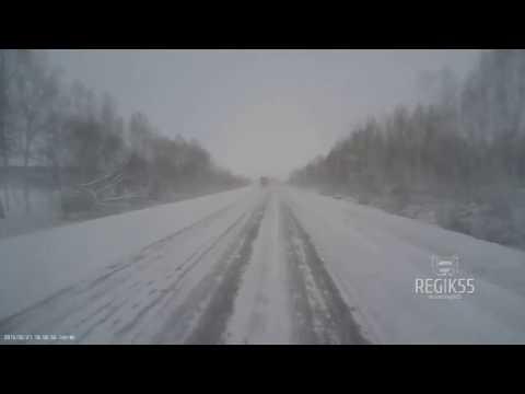 Смертельное ДТП на трассе Тюмень – Омск (29.12.2015) (видео)