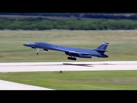 B-1B Lancers departing Dyess AFB....