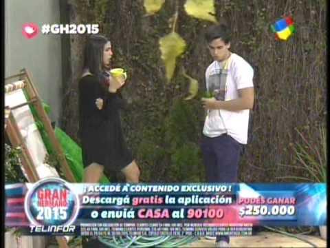 Mati y Maipi charlas en el patio sobre la proxima nominacion #GH2015 #GranHermano