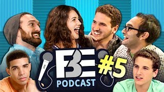FBE Podcast #5 w/ Reactors Eric & Sheila! React stories, tattoo tales, and Benny's ❤️ for Degrassi.Follow us on SoundCloud: https://soundcloud.com/fbepodcast or iTunes: https://goo.gl/DSdGFTWatch the previous podcast w/ Tori here: https://goo.gl/FhRoF4SUBSCRIBE THEN HIT THE 🔔! New Videos 2pm PST on FBE! http://goo.gl/aFu8CWatch latest videos from FBE: https://goo.gl/aU5PSmWe wanted to start a podcast for the 5% of folks who may be interested in who we are and what we do here at FBE. We don't expect this to be anywhere as popular as the bigger series we're known for, but hopefully this gives us a chance to hang out and respond to viewers who are into that kinda thing.So send us questions! Let us know what you'd like this show to become! Should we talk about what we're actively shooting each week (spoilers for upcoming videos)? Or projects we're working on? Or opinions on the state of YouTube? Or just life in general? You decide!We're aiming for this to stay a weekly thing, but we'll see how well we do out of the gate. We make SOO many videos each week that we're forced to record this after hours for now, as it's the only time left any of us have.So hang out! Follow us on SoundCloud or iTunes, you never know who might drop by. -JonHosts:Jonathan Green (no, not that John Green)... lazy slacker absent this weekhttp://www.twitter.com/thejonshowBenny Finehttp://www.twitter.com/bennyfineRafi Finehttp://www.twitter.com/rafifineSpecial Guests:Sheila!https://www.youtube.com/channel/UCtOHkTxCwPWkdkTckp1-jlwEric!https://www.youtube.com/channel/UC6ePwIAVzpvlY_9x8mb1Z9AFollow Fine Brothers Entertainment:FBE WEBSITE: http://www.finebrosent.comFBE CHANNEL: http://www.youtube.com/FBEREACT CHANNEL: http://www.youtube.com/REACTBONUS CHANNEL: https://www.youtube.com/FBE2FACEBOOK: http://www.facebook.com/FineBrosTWITTER: http://www.twitter.com/thefinebrosINSTAGRAM: http://www.instagram.com/fbeSNAPCHAT: https://www.snapchat.com/add/finebrosTUMBLR: http://fbeofficial.tumblr.com/MUSICAL.LY: @fbeLIVE.LY: @fbeSoundCloud: https://soundcloud.com/fbepodcastiTunes: https://goo.gl/DSdGFTSEND US STUFF:FBEP.O. BOX 4324Valley Village, CA 91617-4324Creators & Executive Producers - Benny Fine, Rafi Fine, Jonathan GreenDirector of Development & Programming, Audience Engagement - Melissa JudsonDirector of Production - Drew RoderCamera - Locke AlexanderMusic by:1986 - Rubix Cube (intro)1986 - Disco (shoutouts)1986 - Circles (outro)© Fine Brothers Entertainment.FBE PODCAST #5  Staff React Rivalries, Tattoos, & Degrassi Love
