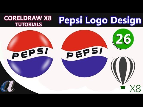 How To Create  Pepsi Logo In Coreldraw || 26 || Www.computersadda.com