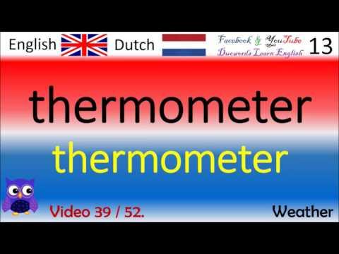 39 Weather - Nederlands - Engels Woorden / Dutch - English Words Engels voor beginners