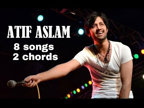 Play 8 Atif Aslam songs on guitar using 2 Chords
