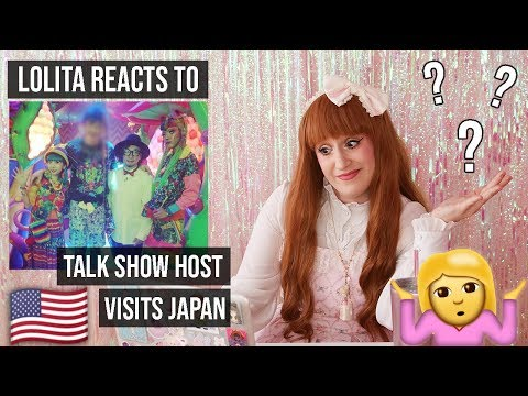 Lolita reacts to American Talk Show host in Japan