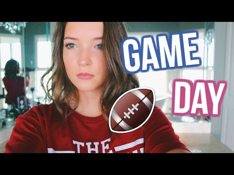 GAME DAY READY // HAIR, MAKEUP, OUTFIT, AND FOOD!!
