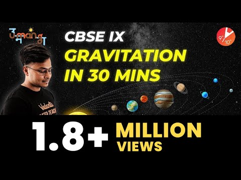 Gravitation In 30 Mins | CBSE Class 9 Science (Physics) Chapter 10 | NCERT Solutions |Vedantu (2019)
