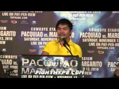Manny Pacquiao vs Antonio Margarito Press Conference