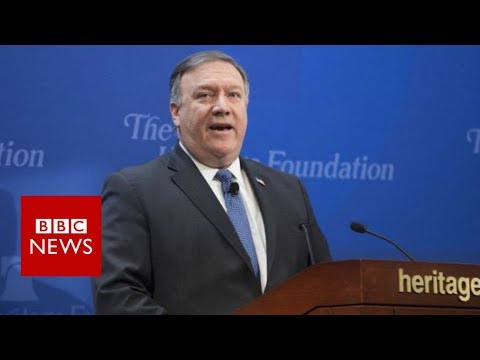 US vows 'strongest sanctions in history' on Iran - BBC News (видео)