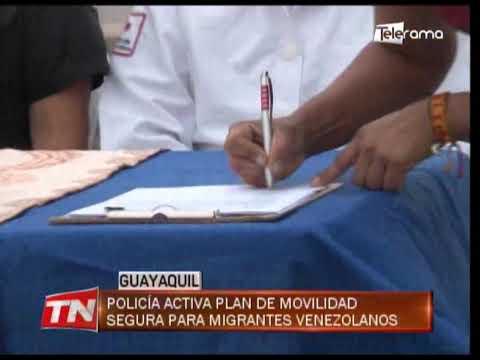 Policía activa plan de movilidad segura para migrantes venezolanos