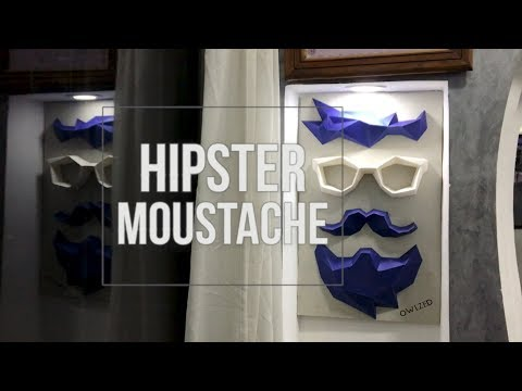 HIPSTER Moustache and Beard 3D DIY - PaperCraft - How to make a Trophy ..