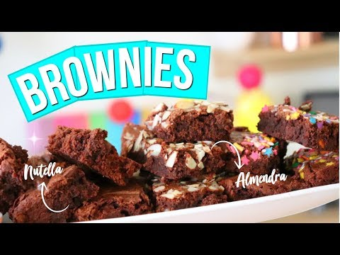 Brownies De 6 Ingredientes MUY FÁCILES  | RebeO