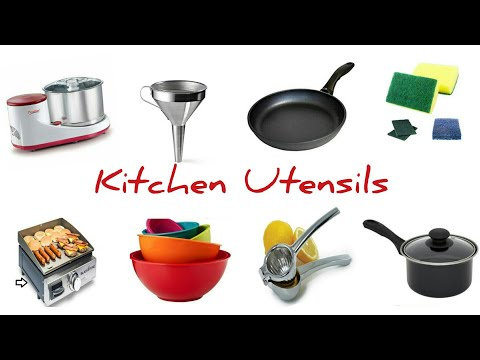 Kitchen Utensils In English With Pictures | Kitchen Vocabulary In Hindi With Pictures